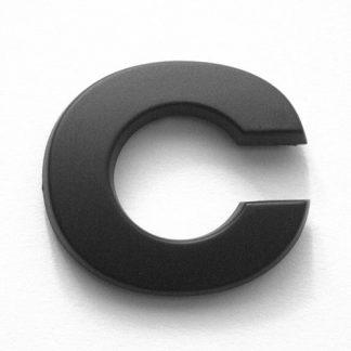 C, 3D Kunststoffbuchstabe, selbstklebend, mattschwarz