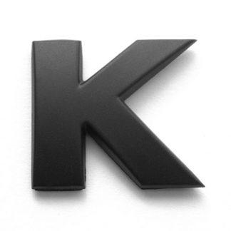 K, 3D Kunststoffbuchstabe, selbstklebend, mattschwarz