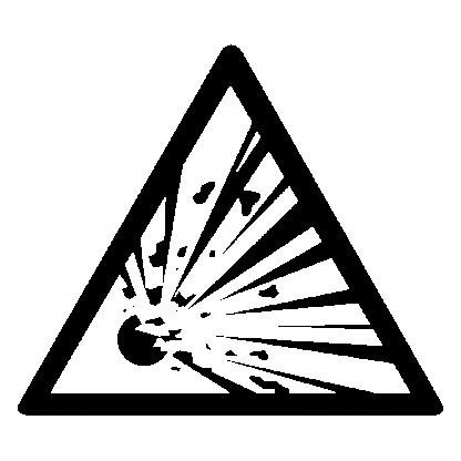 """Folien Aufkleber """"Explosiv"""" Warnsymbol"""