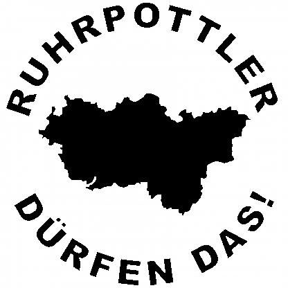 1x Ruhrpottler dürfen das Aufkleber